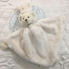 """Peluches Bukowski - Doudou ourson """"Ziggy baby rug"""" blanc"""