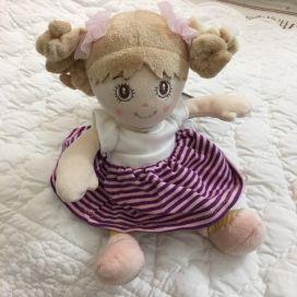 Peluches Bukowski - Poupée Little sister robe mauve