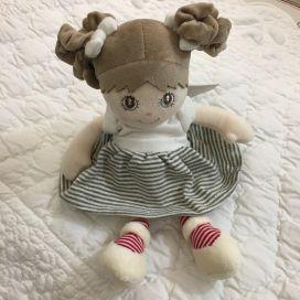 Peluches Bukowski - Poupée Little sister robe verte