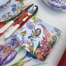 "Michel Design Works ""Summer Days"" Melanine Serveware Canape Plate"