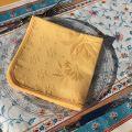 """Lot de 10 serviettes de table damassée """"Delft' jaune"""