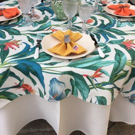 "Square coated cotton tablecloth ""Arôme"" Sud Etoffe"