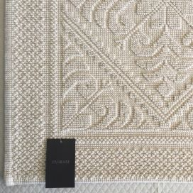 "Bath Mat La Vivaraise ""Enzo"" off white chalk color"