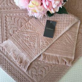 """Bath towels  La Vivaraise """"Zoé"""" pale pink, aubépine"""