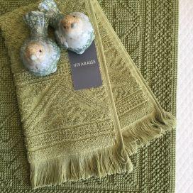 "Bath towels  La Vivaraise ""Zoé"" green matcha"