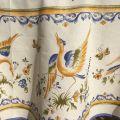 """Nappe ronde en coton """"Moustiers""""  Bleu"""