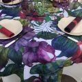 "Tessitura Toscana Tellerie, square hemp tablecloth ""Karkade"""