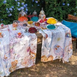 "Tessitura Toscana Tellerie, rectangular hemp tablecloth ""Jelly"""