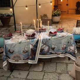 "Tessitura Toscana Telerie, nappe rectangulaire en lin ""Bounty"""