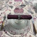 "Webbed tablecloth  ""Montespan"" Lilas"