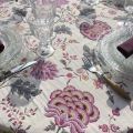 "Rectangular Jacquard tablecloth ""Montespan"" Lilas"