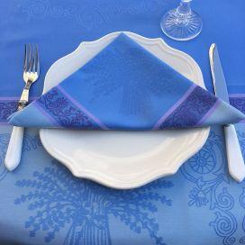 """Serviette de table Sud Etoffe """"Lavandière"""" lavande"""