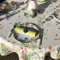 """Round coated cotton tablecloth """"Mirabell"""""""