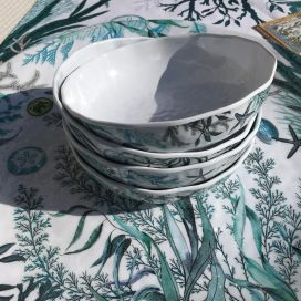"Michel Design Works  ""Ocean Tide"" serveware cereal bowl"