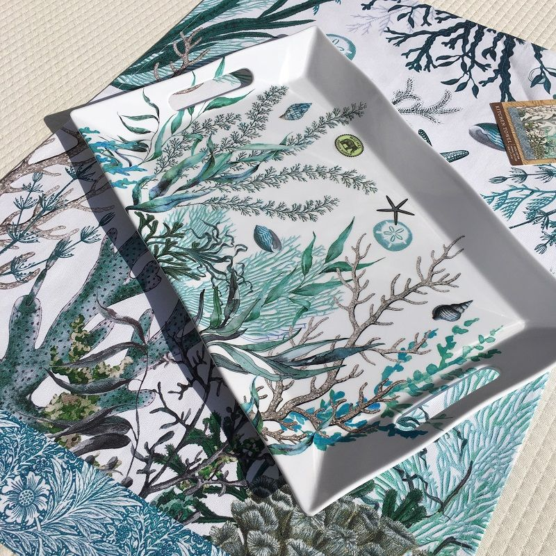 """Michel Design Works """"Ocean tide"""" Melanine Serveware Large Platter"""