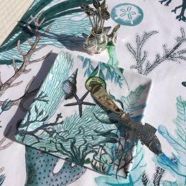 """Michel Design Works, Petit plateau carré en mélamine """"Ocean Tide"""""""