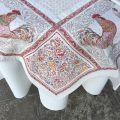 """Square Jacquard tablecloth """"Lafayette"""" Marat d'Avignon"""