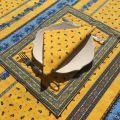 """Set de table matelassé cadré """"Tradition"""" jaune et bleu, Marat d'Avignon"""