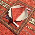 """Set de table matelassé cadré """"Tradition"""" orange, Marat d'Avignon"""