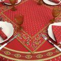 """Tapis de table en coton matelassé """"Avignon"""" rouge et jaune"""
