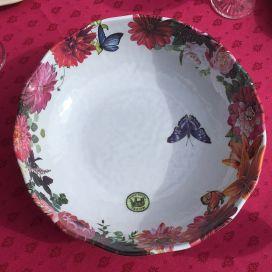 """Michel Design Works """"Sweet Floral Melody"""" Melamine Bistro Bowl"""