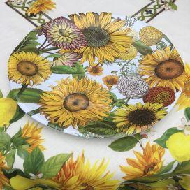 "Michel Design Works ""Sunflower"" Melanine large round platter"