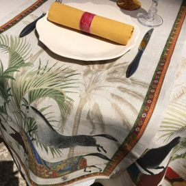 "Tessitura Toscana Telerie, linen table runner ""Barnum"""