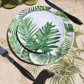 """Michel Design Works, lot de 4 petites assiettes """"Palm Breeze"""""""