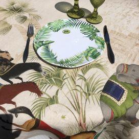 "Michel Design Works  ""Palm Breeze"" Melamine Casual dinner plate"