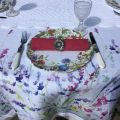 """Table runner, Boutis fashion """"Rosace"""" white color"""