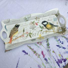 "Melamine rectangular Tray ""Les Oiseaux"""