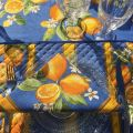 "Cotton napkins ""Lemons"" yellow and blue"
