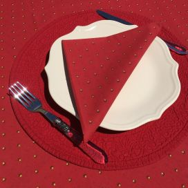 """Cotton napkins """"Calissons"""" red and yellow"""