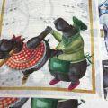 "Torchon en lin ""Figaro"" Tessitura Toscana Telerie"