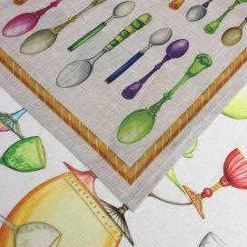 "Torchon en lin ""Galateo"" Tessitura Toscana Telerie"