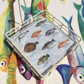 "Paper napkins ""Fishes"""