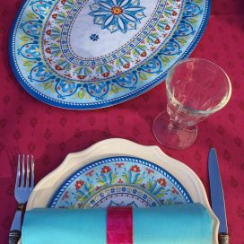 """Plat de service ovale en mélamine """"Toscana"""""""