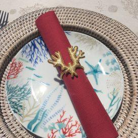 "Golden metal Table napkin ring ""Corail"""