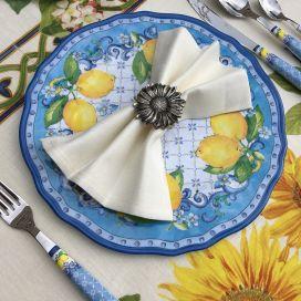 Tessitura Toscana Telerie, linen table napkin ecru color
