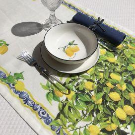 """Chemin de table en lin """"Limonaia"""" Tessitura Toscana Telerie"""