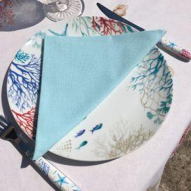 """Cotton table napkin """"Coucke"""" blue Mojito"""