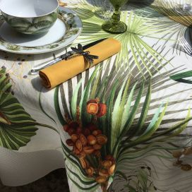 "Tessitura Toscana Tellerie, square hemp tablecloth ""Oasi"""