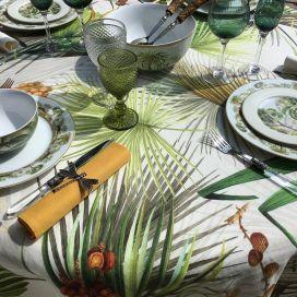 """Tessitura Toscana Tellerie, rectangular hemp tablecloth """"Oasi"""""""