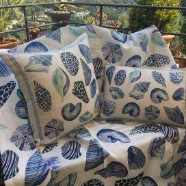 "Decorative linen cushion ""Cyprea"" Tessitura Toscana Telerie"