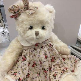 Peluches Bukowski - Oursonne Belle Sophie robe rose