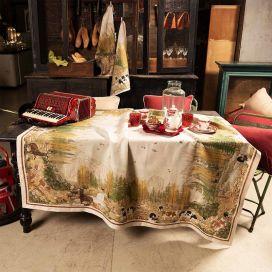 "Tessitura Toscana Telerie, rectangular linen tablecloth ""Walser"""