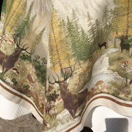 "Tessitura Toscana Telerie, square linen tablecloth ""Walser"""