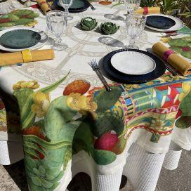 "Tessitura Toscana Telerie, rectangular linen tablecloth ""Mediterraneo"""