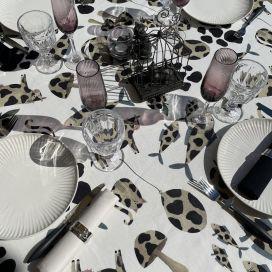 "Tessitura Toscana Tellerie, rectangular coton tablecloth ""Macchia"""
