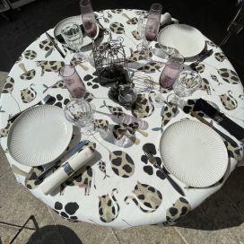 "Tessitura Toscana Tellerie, square coton tablecloth ""Macchia"""